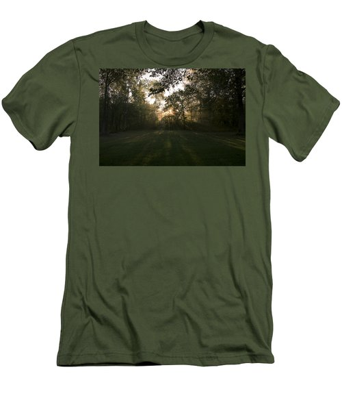 Men's T-Shirt (Slim Fit) featuring the photograph Peeking Through by Annette Berglund