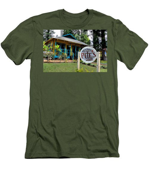 Pele's Lanai Style Men's T-Shirt (Slim Fit) by DJ Florek