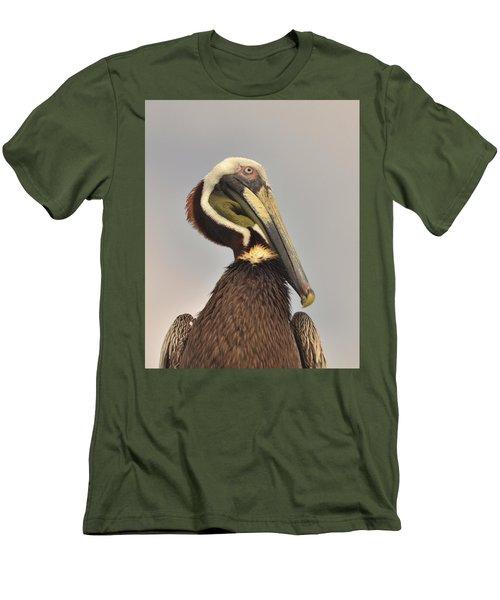 Pelican Portrait Men's T-Shirt (Slim Fit) by Nancy Landry