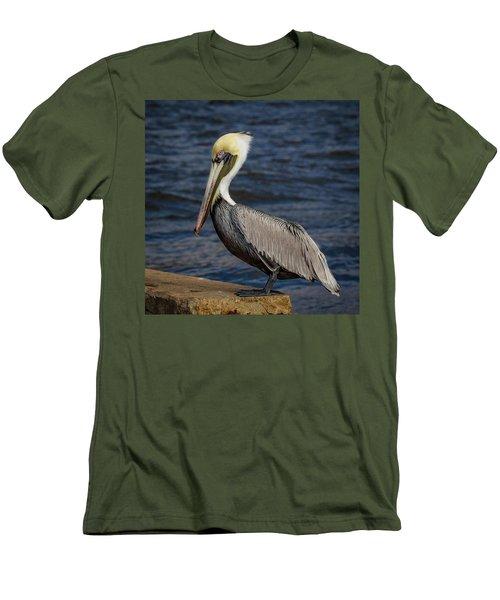 Pelican Profile 2 Men's T-Shirt (Slim Fit) by Jean Noren