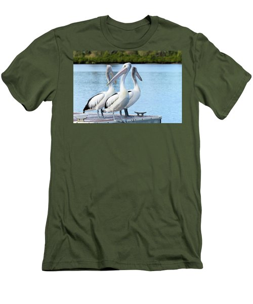 Pelicans 6663. Men's T-Shirt (Slim Fit) by Kevin Chippindall