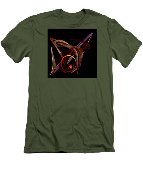Men's T-Shirt (Slim Fit) featuring the painting Penman Original- 248-sunlight Within A Tangled Manic Mind by Andrew Penman