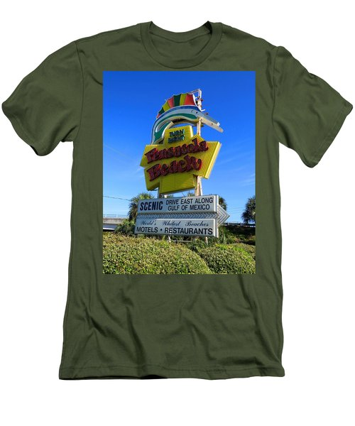 Pensacola Beach Sign Men's T-Shirt (Slim Fit) by Keith Stokes