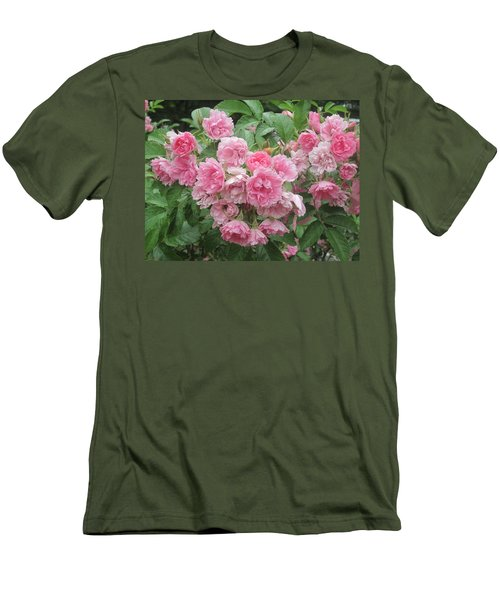 Peonies At Glen Magna Farms Men's T-Shirt (Slim Fit) by Paul Meinerth
