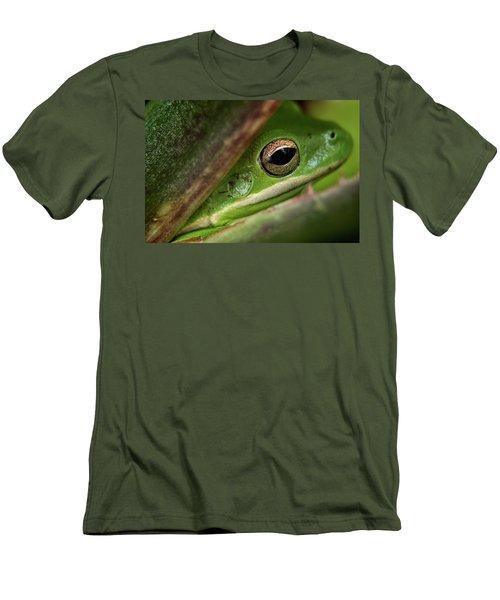Frogy Eye Men's T-Shirt (Slim Fit) by Denis Lemay