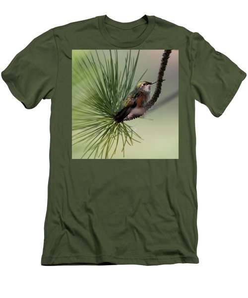 Perched In A Pine Men's T-Shirt (Athletic Fit)