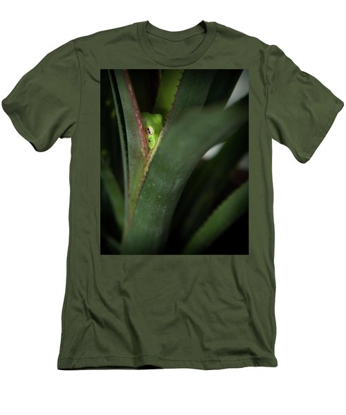 Perching With Comfort Men's T-Shirt (Slim Fit) by Denis Lemay