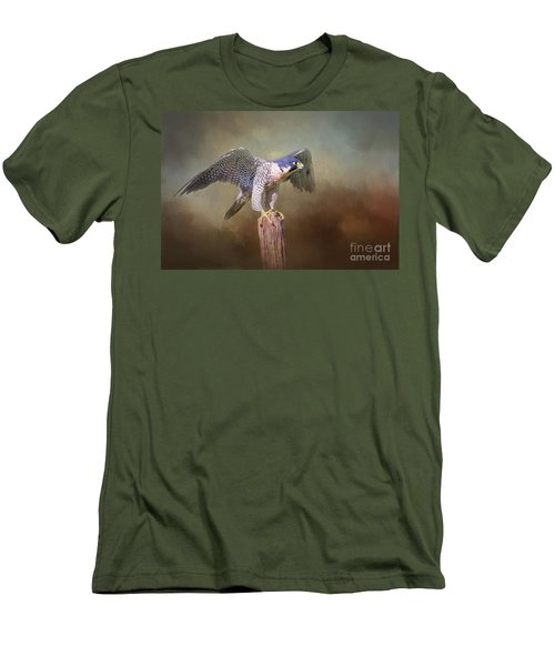 Peregrine Falcon Taking Flight Men's T-Shirt (Athletic Fit)