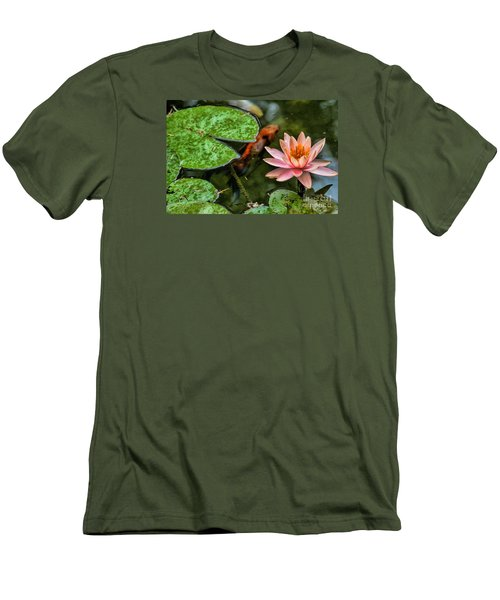 Perfect Beauty And Koi Companion Men's T-Shirt (Athletic Fit)