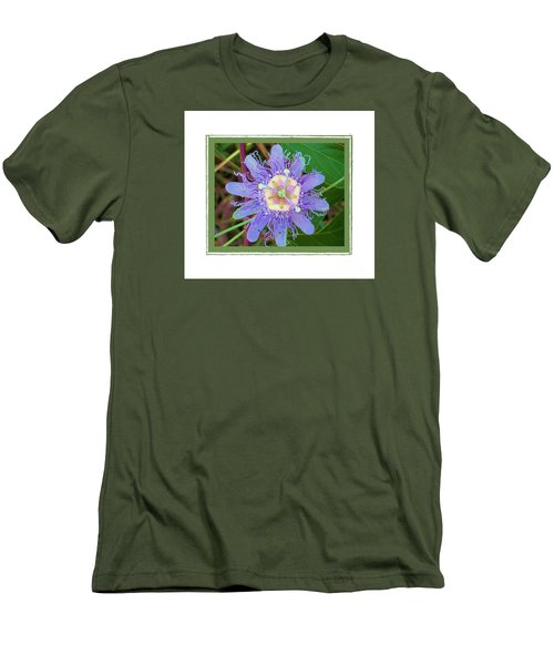 Men's T-Shirt (Slim Fit) featuring the photograph Perfect Passion Flower 2 by Shirley Moravec
