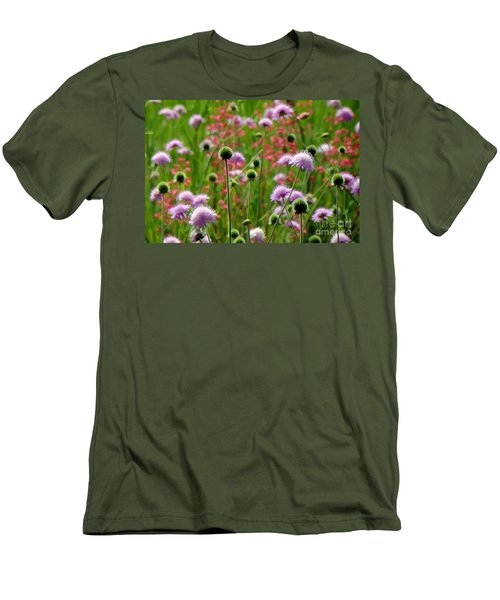 Perky Chives Men's T-Shirt (Slim Fit) by Betsy Zimmerli