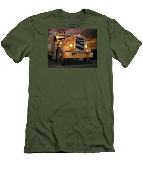 Peterbilt Ol Yeller Men's T-Shirt (Slim Fit) by Stuart Swartz