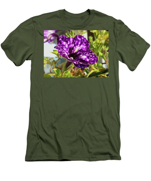 petunia nightsky,Helloween colors  Men's T-Shirt (Slim Fit) by Tamara Sushko
