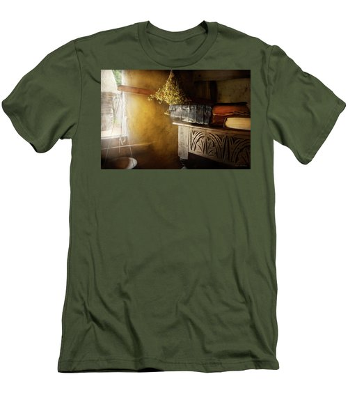 Men's T-Shirt (Slim Fit) featuring the photograph Pharmacy - The Apothecarian by Mike Savad