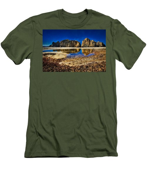 Men's T-Shirt (Slim Fit) featuring the photograph Pheiffer Beach #15 - Big Sur, Ca by Jennifer Rondinelli Reilly - Fine Art Photography
