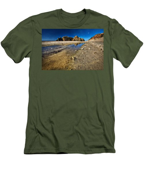 Men's T-Shirt (Slim Fit) featuring the photograph Pheiffer Beach -keyhole Rock #18 - Big Sur, Ca by Jennifer Rondinelli Reilly - Fine Art Photography