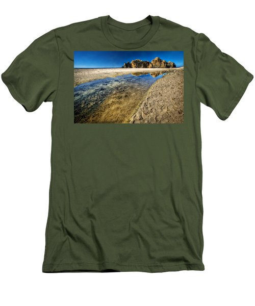 Men's T-Shirt (Slim Fit) featuring the photograph Pheiffer Beach- Keyhole Rock #19 - Big Sur, Ca by Jennifer Rondinelli Reilly - Fine Art Photography