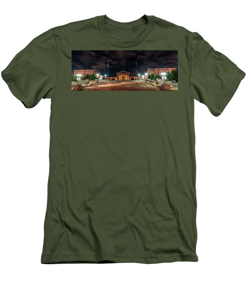 Men's T-Shirt (Slim Fit) featuring the photograph Philadelphia Museum Of Art by Marvin Spates