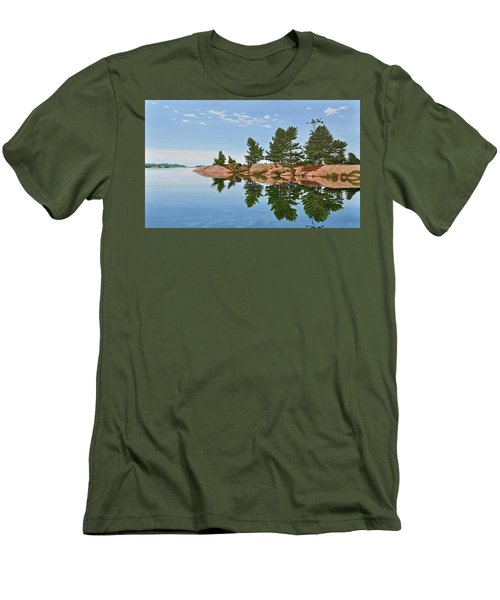 Men's T-Shirt (Slim Fit) featuring the painting Philip Edward Island by Kenneth M Kirsch