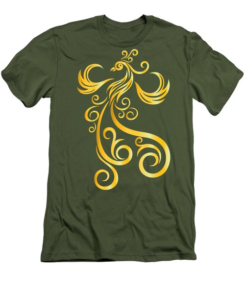 Phoenix Men's T-Shirt (Slim Fit) by Martinus Sumbaji