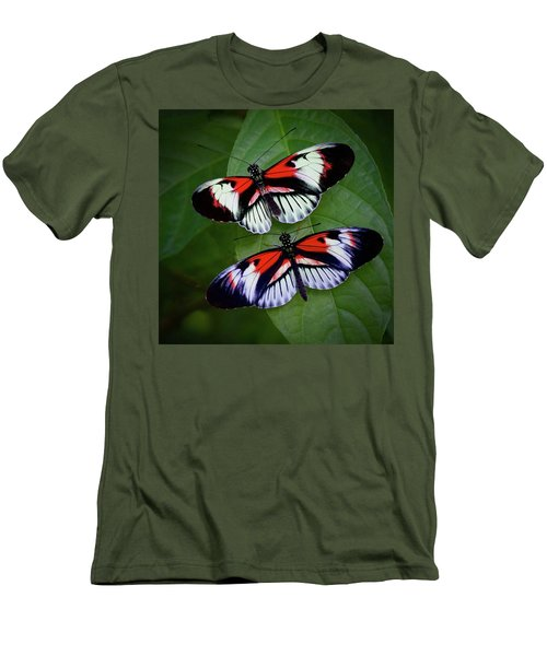Piano Key Butterfly's Men's T-Shirt (Athletic Fit)