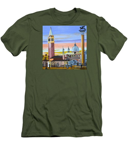 Piazza San Marco Men's T-Shirt (Slim Fit) by Donna Blossom