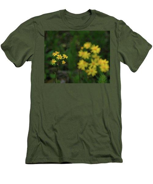 Men's T-Shirt (Slim Fit) featuring the photograph Pick Me Daisies by LeeAnn McLaneGoetz McLaneGoetzStudioLLCcom
