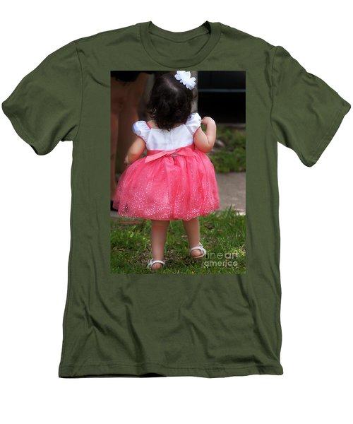 Pick Me Up Men's T-Shirt (Slim Fit) by Joan Bertucci