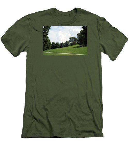 Men's T-Shirt (Slim Fit) featuring the photograph Piedmont Park by Jake Hartz