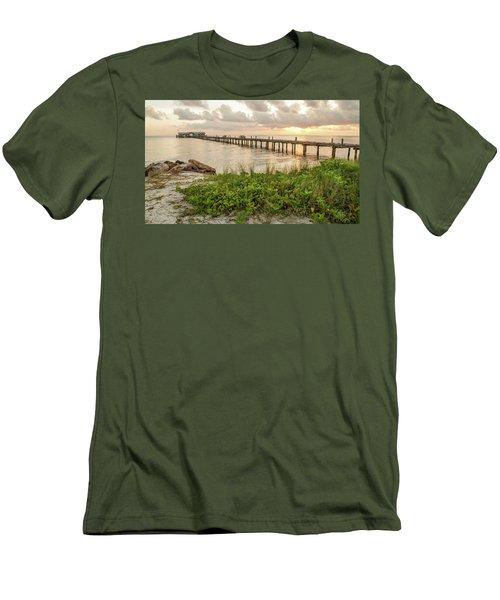 Pier At Sunrise Men's T-Shirt (Athletic Fit)