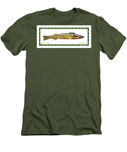 Pike Ice Fishing Decoy Men's T-Shirt (Athletic Fit)
