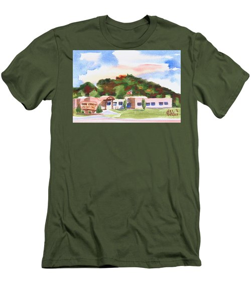 Men's T-Shirt (Slim Fit) featuring the painting Pilot Knob Mountain W401  by Kip DeVore