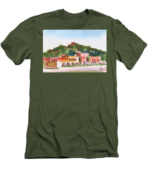 Men's T-Shirt (Slim Fit) featuring the painting Pilot Knob Mountain W402 by Kip DeVore