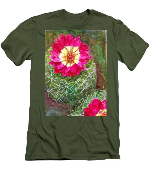 Pincushion Cactus Men's T-Shirt (Slim Fit) by Eric Samuelson