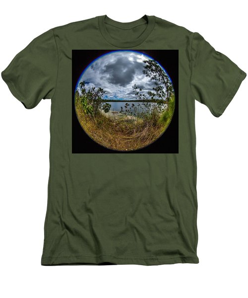 Pine Glades Lake 18 Men's T-Shirt (Slim Fit) by Michael Fryd
