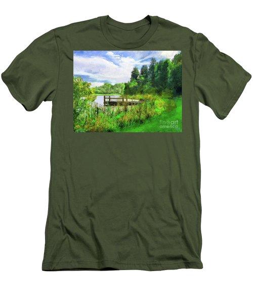 Pine Lake Pier Men's T-Shirt (Athletic Fit)