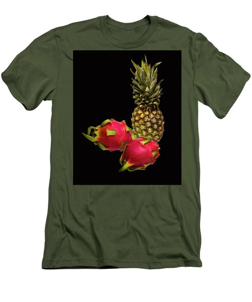 Men's T-Shirt (Slim Fit) featuring the photograph Pineapple And Dragon Fruit by David French