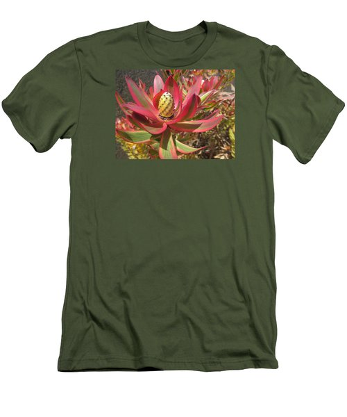 Pineapple King Flower Men's T-Shirt (Athletic Fit)