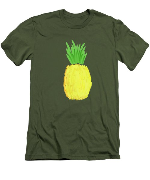 Pineapple Men's T-Shirt (Slim Fit) by Priscilla Wolfe