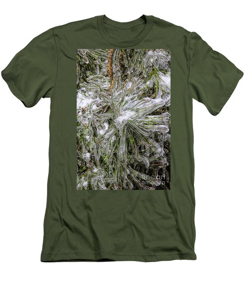 Men's T-Shirt (Slim Fit) featuring the photograph Pinecicles by Barbara Bowen