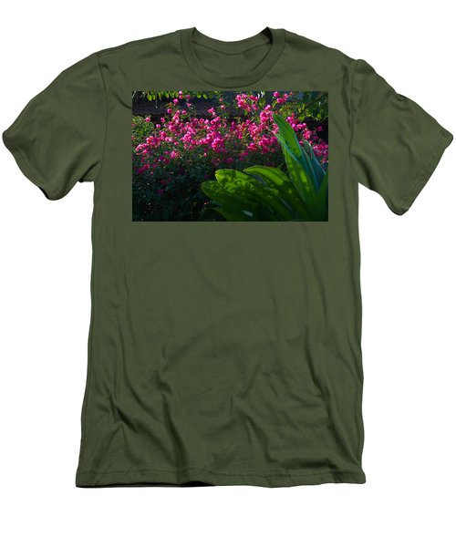 Pink And Green Men's T-Shirt (Slim Fit) by Jim Walls PhotoArtist
