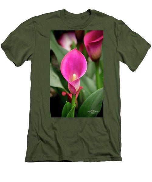 Pink Calla Men's T-Shirt (Athletic Fit)