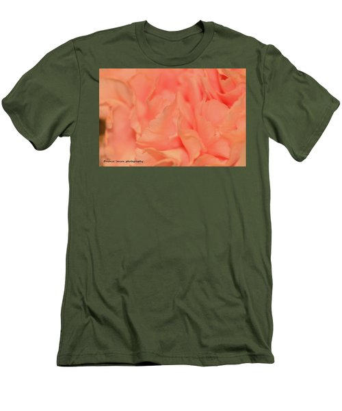 Pink Carnations Men's T-Shirt (Slim Fit) by Nance Larson