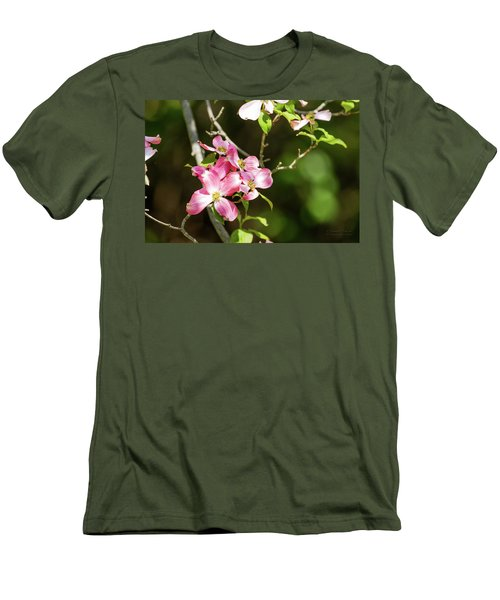 Pink Dogwood Men's T-Shirt (Athletic Fit)