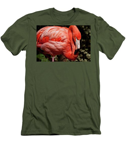 Pink Flamingo Men's T-Shirt (Athletic Fit)