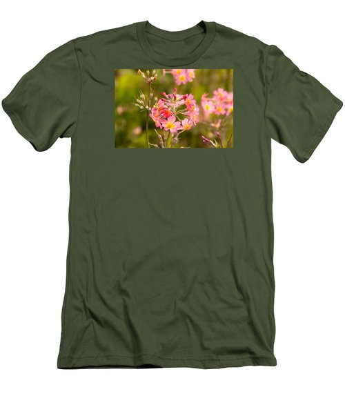 Pink Flowers In Scotland Men's T-Shirt (Athletic Fit)