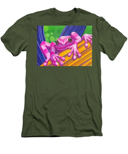Pink Frog Men's T-Shirt (Athletic Fit)