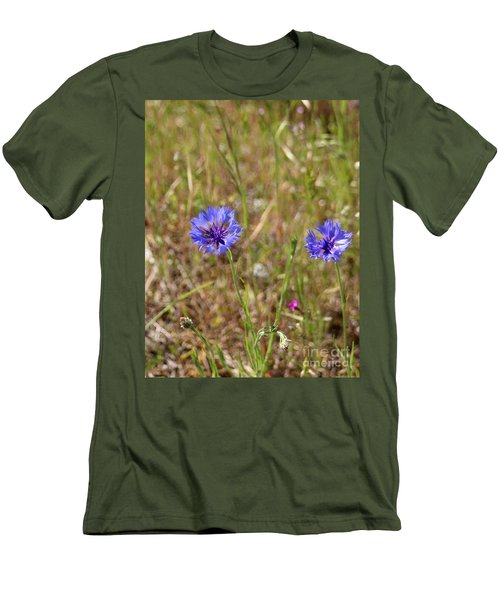 Men's T-Shirt (Athletic Fit) featuring the photograph Pink In Between by Marie Neder