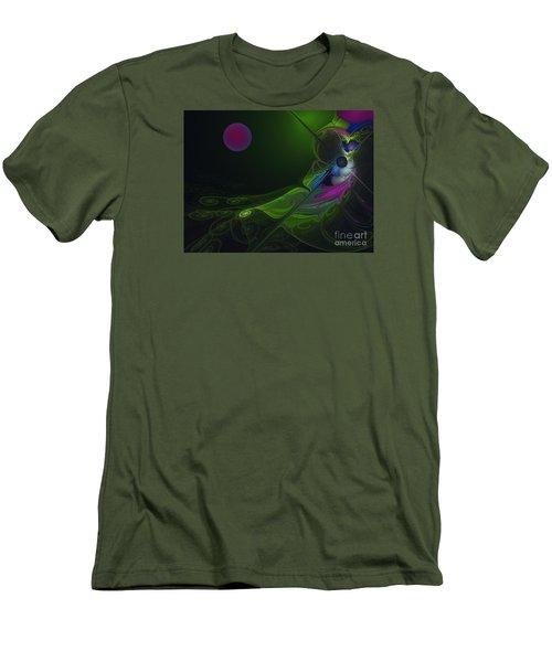 Men's T-Shirt (Slim Fit) featuring the digital art Pink Moon by Karin Kuhlmann