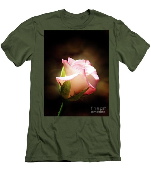 Pink Rose 2 Men's T-Shirt (Slim Fit) by Inspirational Photo Creations Audrey Woods